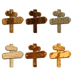 Set wooden pointers vector