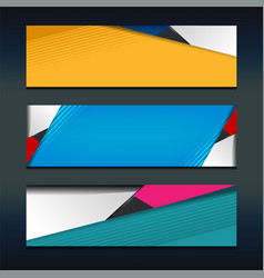 shape banner design vector image vector image