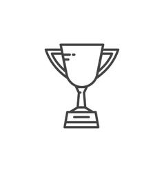 Soccer cup icon vector