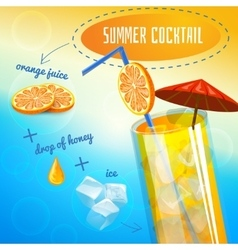 Summer Cocktail Recipe vector image