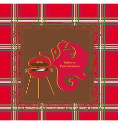 Vintage Barbecue Party Invitation vector image