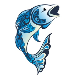 Water fish vector image