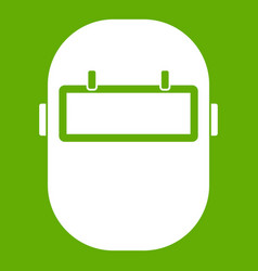 welding mask icon green vector image