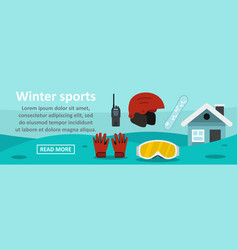 winter sports banner horizontal concept vector image vector image