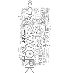 Work is the key text word cloud concept vector