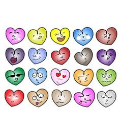 Different variations heart icon vector