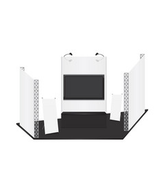 trade exhibition stand and x-stand for presentatio vector image