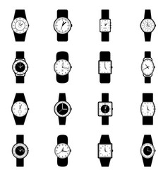 set of wristwatches vector image
