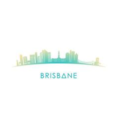 Brisbane australia skyline silhouette vector