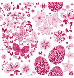 Monochrome easter seamless pattern vector