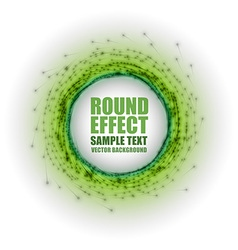 Fireworks circle green white with text vector