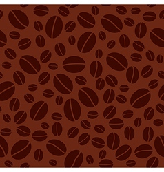 Dark seamless pattern with coffee beans vector