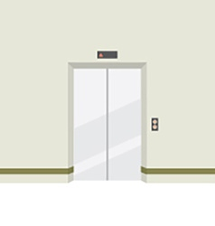 Closed doors elevator vector