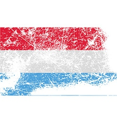 Flag of luxembourg with old texture vector