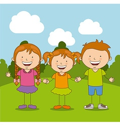 children in the park vector image