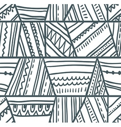 Tribal seamless pattern geometric background vector