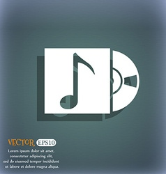 Mp3 player icon sign on the blue-green abstract vector