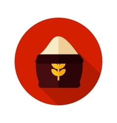 Sack of flour flat icon with long shadow vector