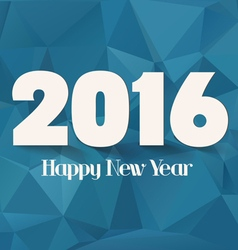 Happy new year 2016 abstract geometric background vector