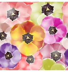 Seamless pattern Tulips flowers EPS 10 vector image