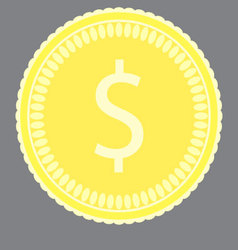 Coin gold money vector
