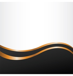 Abstract backgroun with golden lines vector image vector image