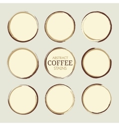 Abstract Coffee Stains vector image vector image