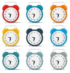 Alarm Clock Set vector image vector image