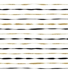 Background of golden shiny and black stripes vector