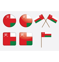 badges with flag of Oman vector image vector image