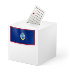Ballot box with voting paper guam vector