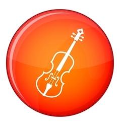 Cello icon flat style vector