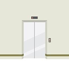 Closed doors elevator vector