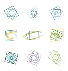 colored abstract icons vector image
