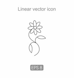 contour icon of a flower vector image vector image
