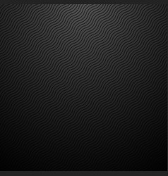 Dark striped wavy background carbon vector