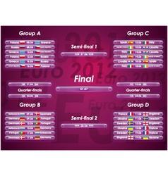 Euro 2012 fixtures vector image vector image