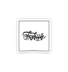 Fashion blog handmade lettering for social vector