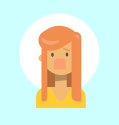 female screaming emotion profile icon woman vector image vector image