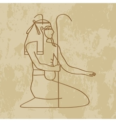 God nun of egypt vector