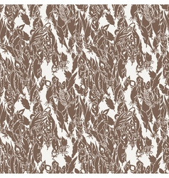 Ink feather seamless pattern hand drawn doodle vector