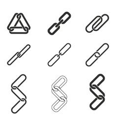 Link icon set vector image vector image