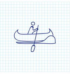 of trip symbol on vessel vector image