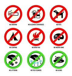 Park signs - Set I vector image