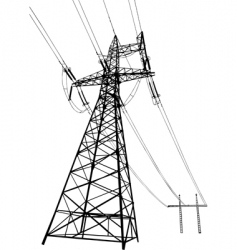 power lines and electric pylons vector image vector image