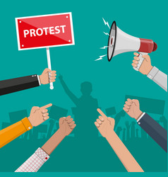 Protest concept with megaphone vector