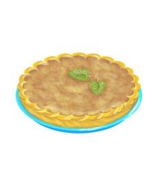 pumpkin pie vector image vector image