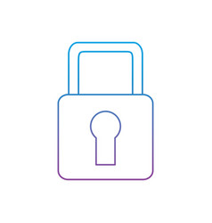 security padlock lock access protection icon vector image