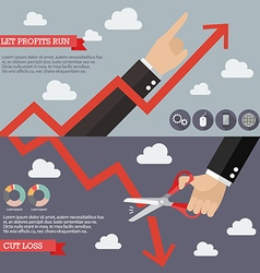 Strategy of technical analysis infographic vector