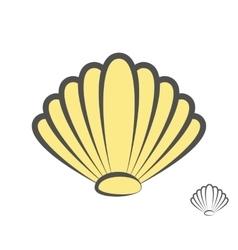 sea shell logo or icon vector image